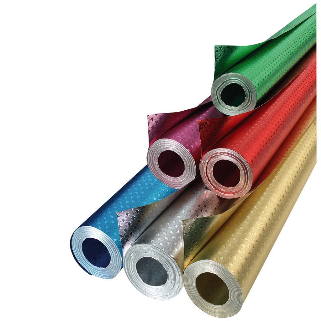 Alu-Bastelfolie mit Sternchenprägung - in 6 Farben lieferbar