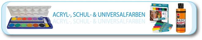 Acryl-, Schul- & Universalfarben