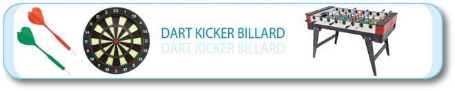 Dart · Kicker · Billard