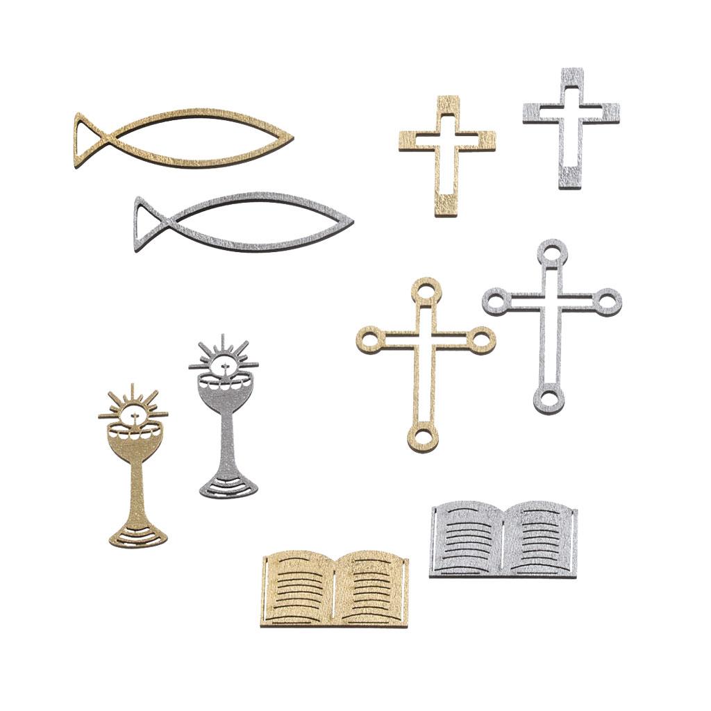 Streudeko Religiöse Motive, Silber oder Gold