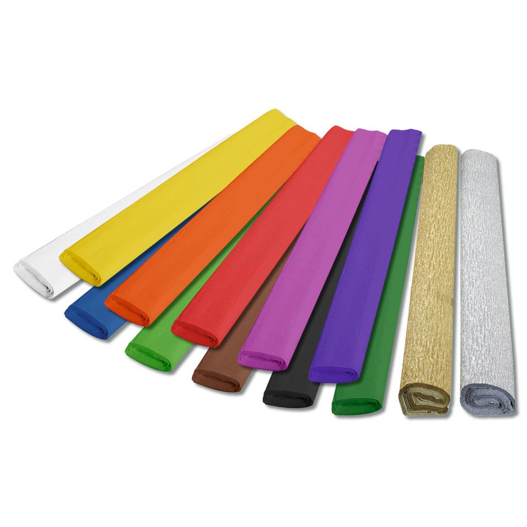 Bastelkrepp-Papier in 11 Farben lieferbar