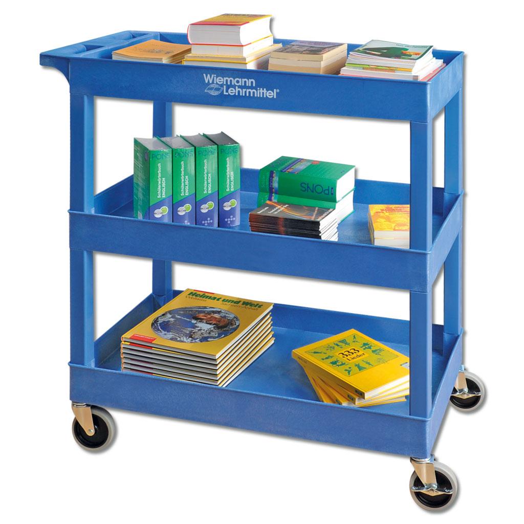 Große Servier- und Bücherwagen - in 3 Farben lieferbar