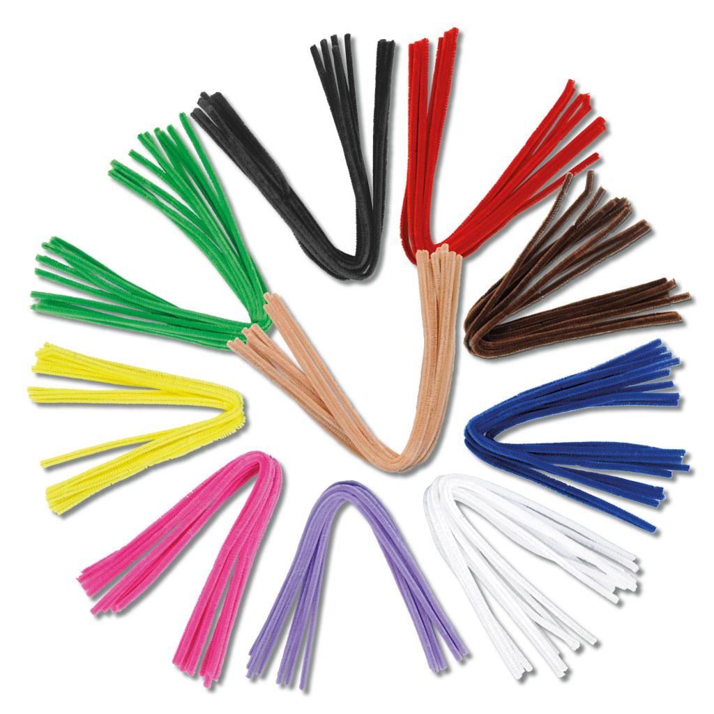 Chenille-Draht - in 10 verschiedenen Farben