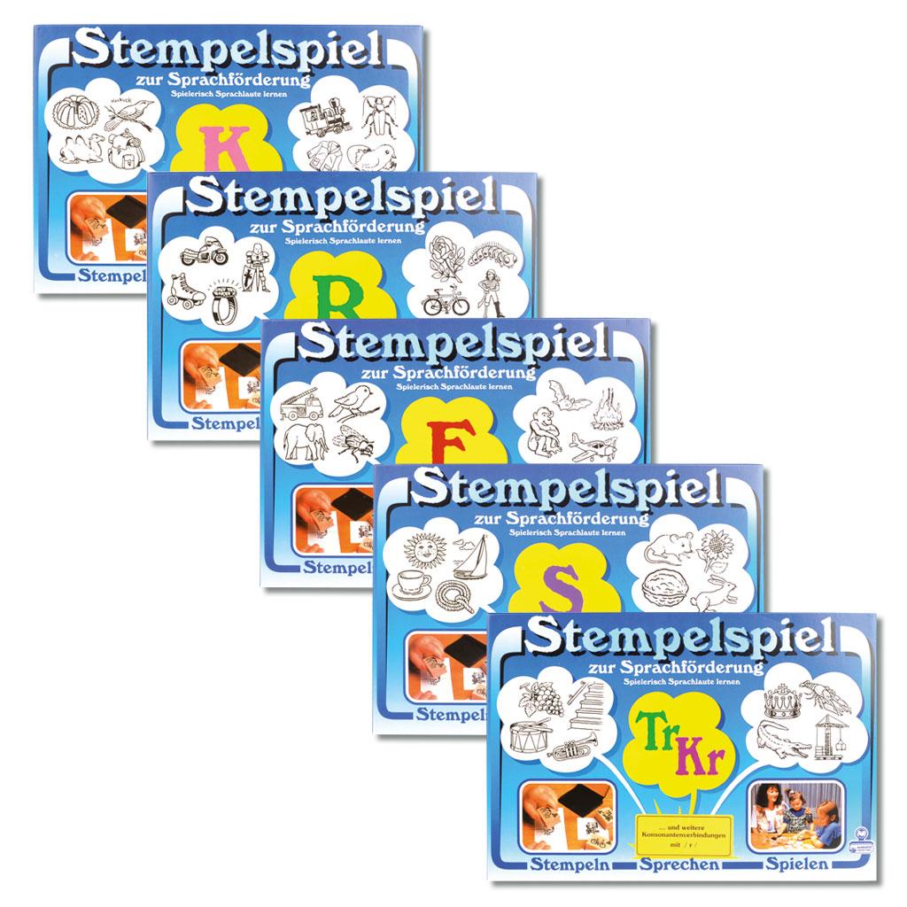 Stempelspiel für 4 verschiedene Problemlaute