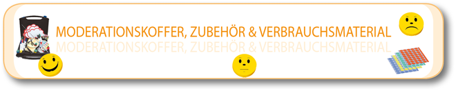Moderationskoffer, Zubehör & Verbrauchsmaterial
