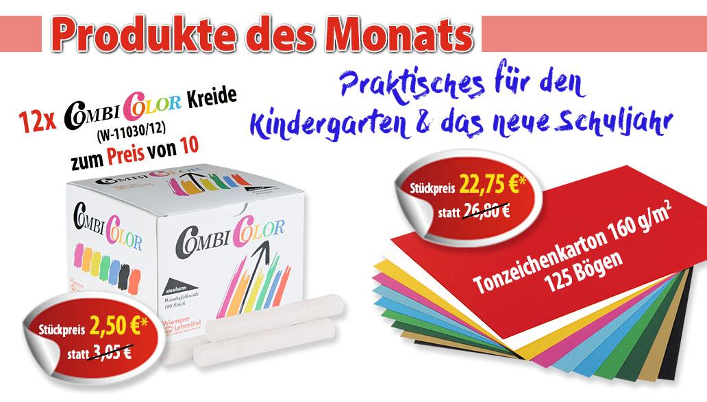Produkt des Monats August: Kreide und Tonzeichenpapier
