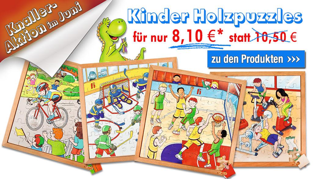 Knaller-Aktion im Juni: Kinder-Holzpuzzle für 8,10€