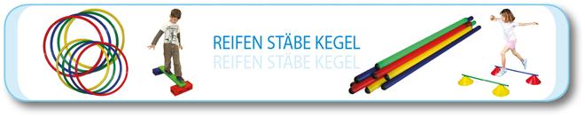 Reifen · Stäbe · Kegel