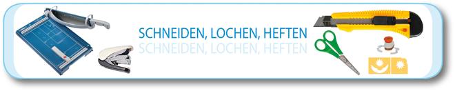 Schneiden · Lochen · Heften