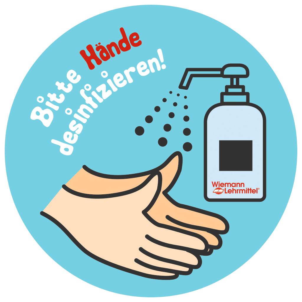 """""""Bitte Hände desinfizieren"""" Sticker"""