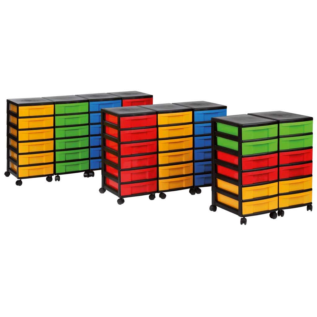 Modulus® Schubladen-Rollcontainer aus Kunststoff