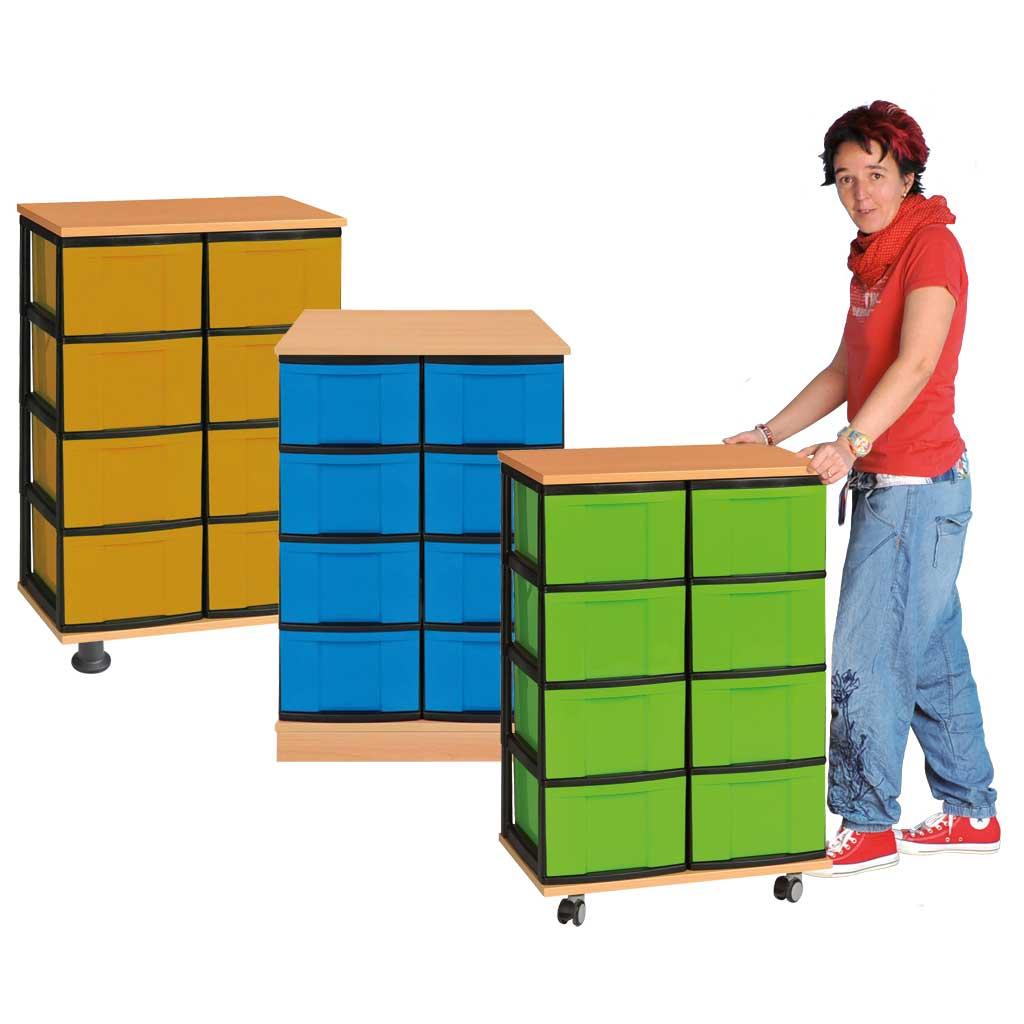 Modulus® KIDS, 8 große Schubladen, 91 x 61 x 39 cm