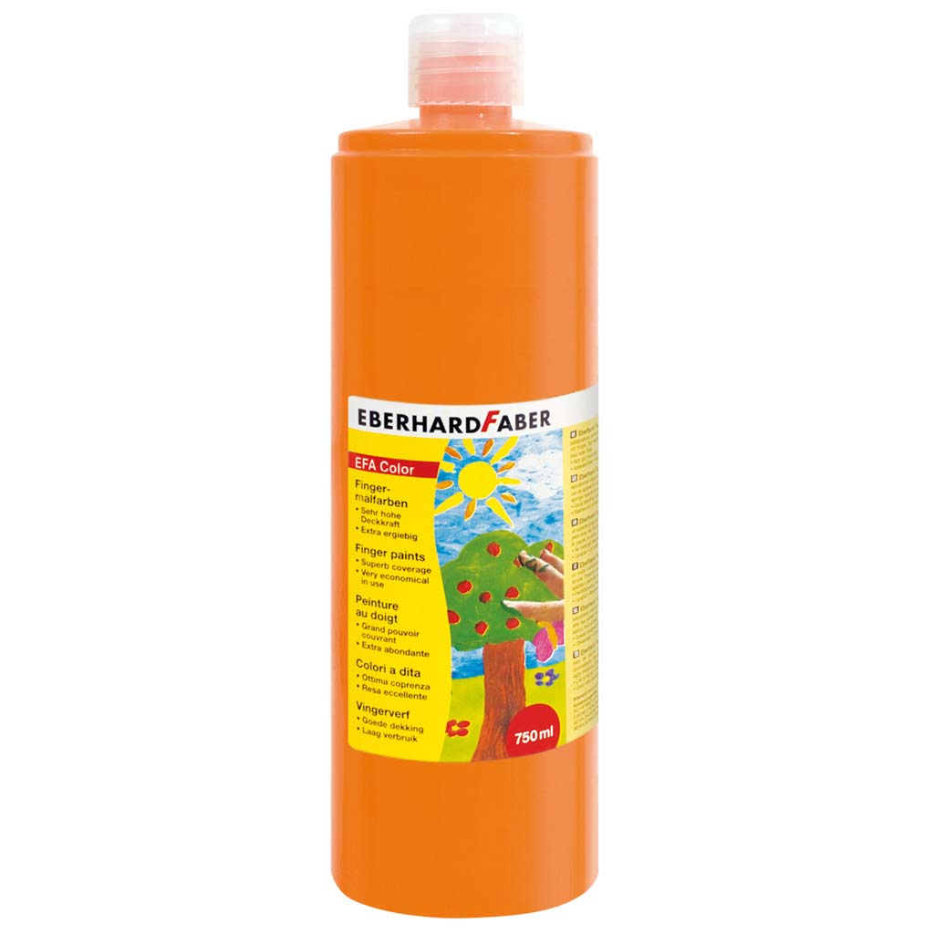 Bunte Kinder-Fingerfarben, Orange