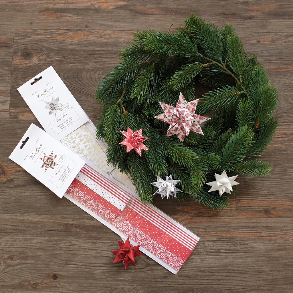 Fröbelsterne zum weihnachtlichen Gestalten