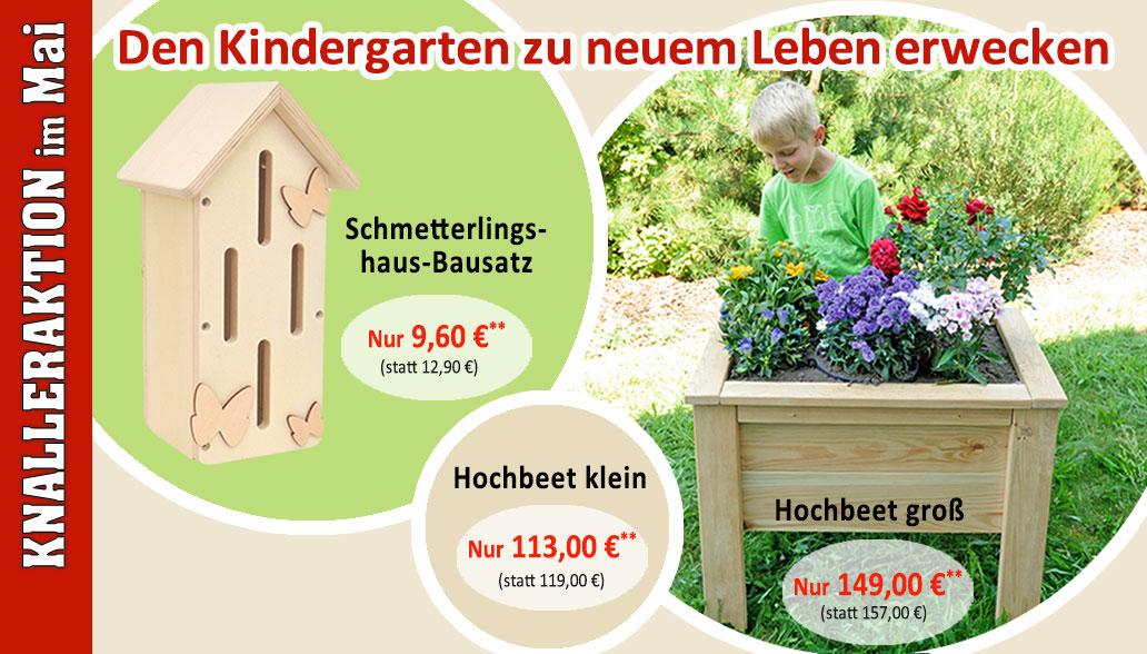 Produkt des Monats Mai: Mit Hochbeet und Schmetterlingshaus den Garten genießen