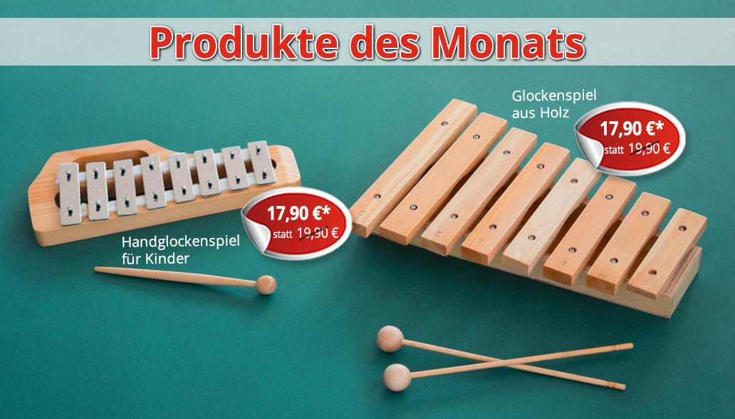 Produkte des Monats April: Glockenspiele zur musikalischen Früherziehung