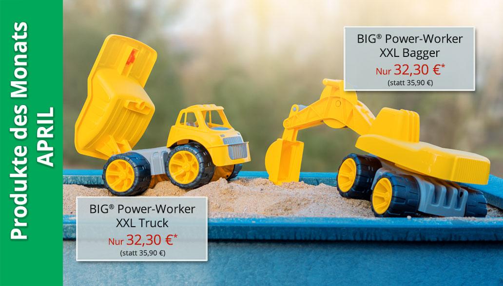 Produkte des Monats April: Sandspielzeug für die Baustelle