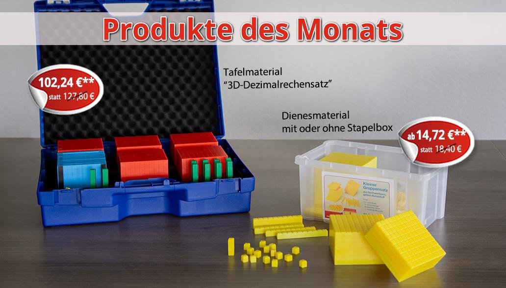 Produkte des Monats August: Dezimalrechnen