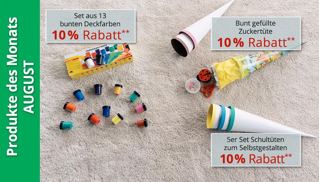 Produkte des Monats August: Perfekt für die Einschulung