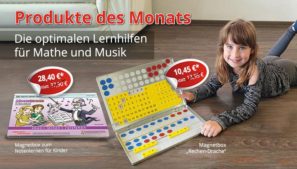 Produkte des Monats August: Magnetboxen zum Mathe und Noten lernen