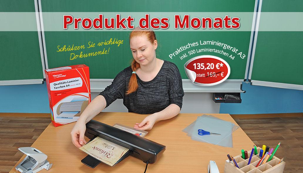 Produkt des Monats Dezember: Praktisches Laminiergerät und Folien