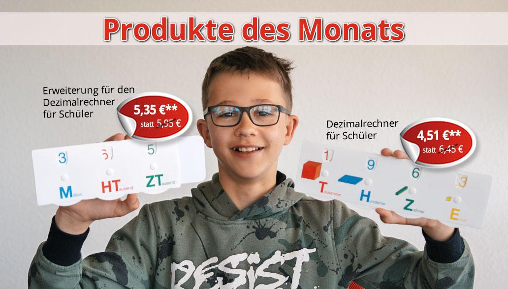 Produkte des Monats Mai: Kinderleichtes Rechnen mit Stellenwerten