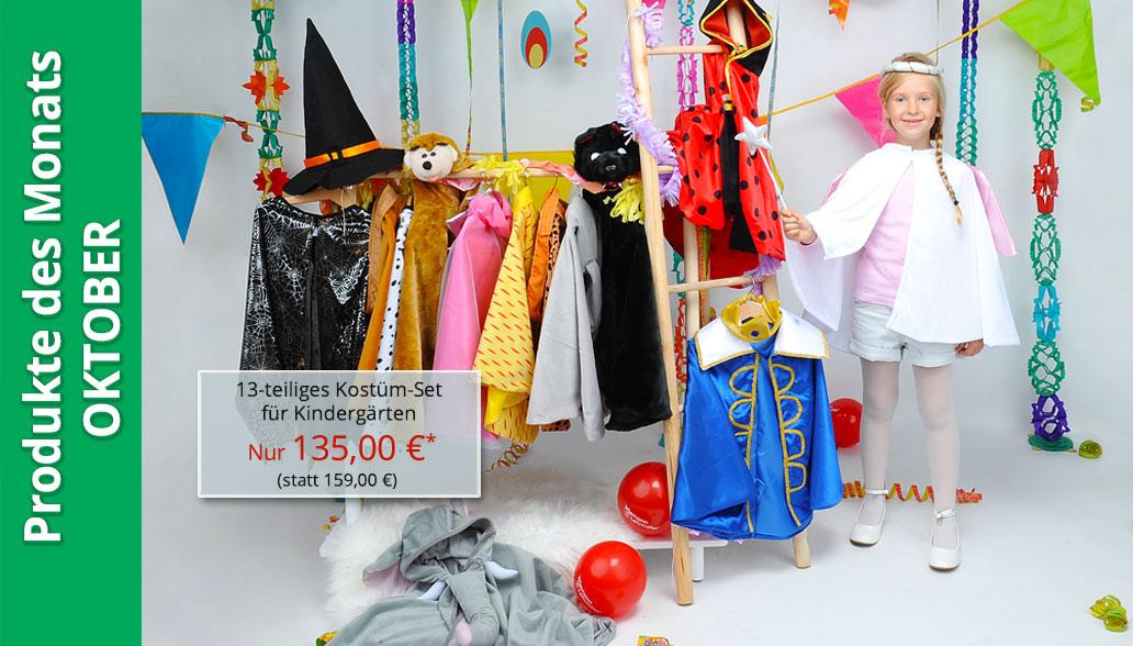Produkte des Monats Oktober: Kostüm-Set für Kindergärten