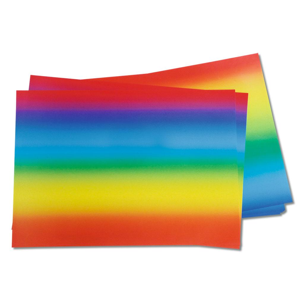 Regenbogenpapier zum kreativen Gestalten