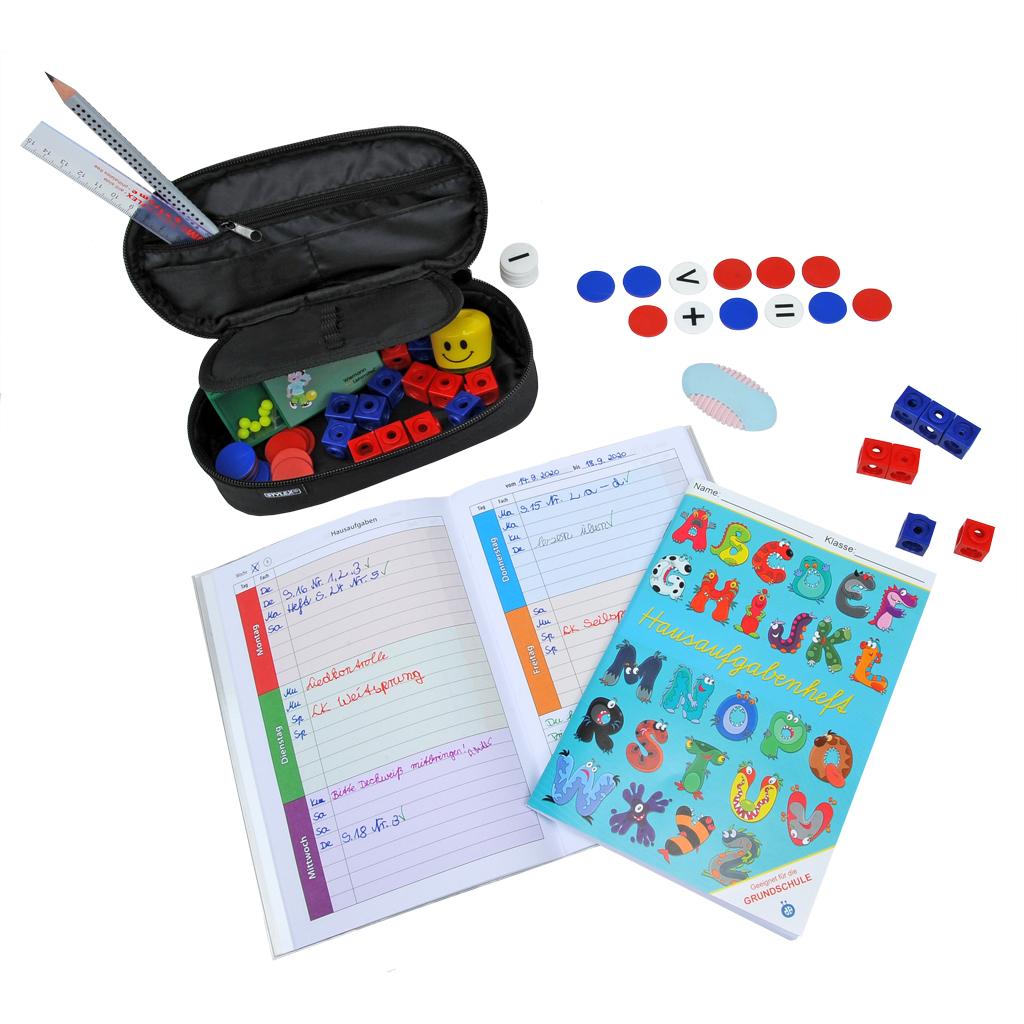 Umfangreiches Schulstart-Set