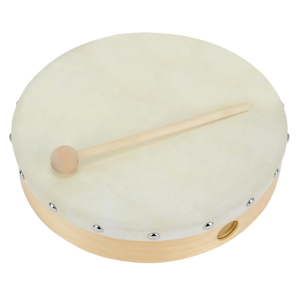 Tamburin - Naturfell, Ø 25 cm